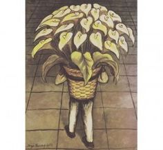 Man Carrying Calla Lillies by Diego Rivera