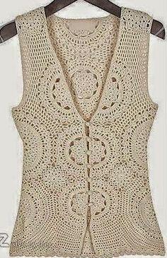 Un lindo chaleco con flores 3D | Crochet y dos agujas