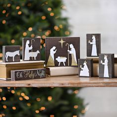Natural Wood Block Nativity Scene, Set of 7 | Kirklands