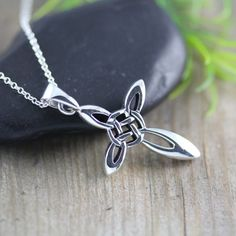 Love this.....Silver Celtic Cross Necklace Irish Celtic Cross by LifeOfSilver, $37.80 janell