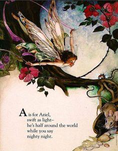 Oggi torniamo nel mondo della fantasia con l'alfabeto delle Fate di FANNY CORY. ( Waukegan, Illinois, 1877 - 1972), artista e illustra...