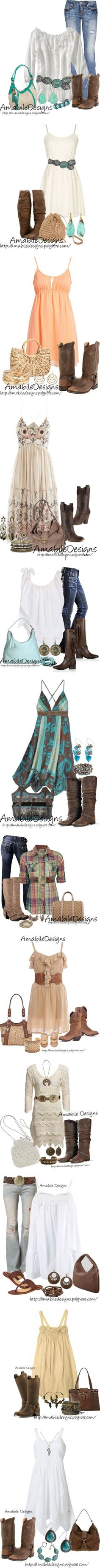 """Country Chic Look"" by amabiledesigns ❤ liked on Polyvore"