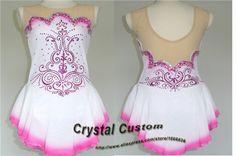 Custom  Ice Figure Skating Dress For Kids Fashion New Brand Competition Figure Skating Dresses Crystal  DR3650