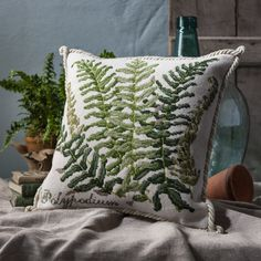 Handmade stitched and finished needlepoint pillows Luxury Pillows Decorative Throw Pillows Duck Egg Blue Cushions, Cream Cushions, Luxury Cushions, Boho Pillows, Decorative Throw Pillows, Fan Coral, Parrot Tulips, Lavender Bags, Boho Green