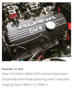 Bmw M10, Bmw E30 M3, Bmw Alpina, Bmw Engines, Race Engines, Bmw M Series, Bmw Motors, Bmw Wallpapers, Performance Engines