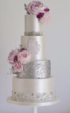 Wedding Cake Inspiration – Cotton & Crumbs – MODwedding – Famous Last Words Creative Wedding Cakes, Elegant Wedding Cakes, Elegant Cakes, Beautiful Wedding Cakes, Wedding Cake Designs, Beautiful Cakes, Amazing Cakes, Pearl Wedding Cakes, Perfect Wedding