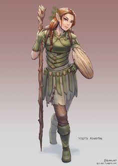Yesta Fenritas, Elven Druid by bchart.deviantart.com on @DeviantArt