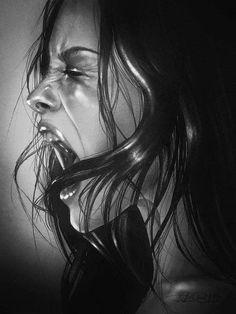 Pencil Portrait by Rebecca Blair