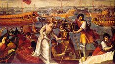 Andrea Vasillacchi ~ Sbarco di Caterina Cornaro ~ Queen of Cyprus ~ Venezia ~ Caterina Cornaro was born in Venice in 1454 from an ancient and noble family. Caterina married the young king of Cyprus and Armenia James II of Lusignan.