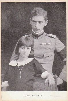 Princess Ileana of Romania with her eldest brother Crown Prince, later King, Carol. Carol was jealous of Ileana's popularity and used her marriage to an Austrian archduke to get and keep her out of Romania. Royal Family Lineage, Queen Victoria Descendants, Romanian Royal Family, Troubled Relationship, Princess Alexandra, Save The Queen, Queen Mary, Royal Weddings, Ferdinand