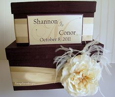 Money Card Box Wedding Card Box Custom Made by LaceyClaireDesigns, $98.00