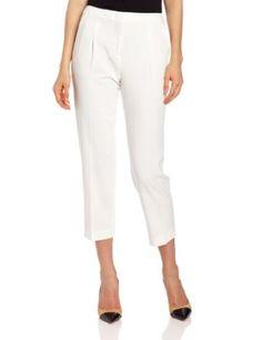 BCBGMAXAZRIA Women's James Woven City Pant, Off White, Small BCBGMAXAZRIA. $138.00