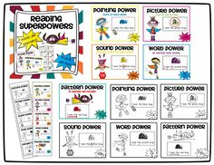 Perfect for Reader's Workshop! Help students learn reading superpowers with these mini-posters and bookmarks. In color and B&W! Engaging way to teach reading strategies! Readers Workshop Kindergarten, Kindergarten Posters, Kindergarten Reading Activities, Reading Worksheets, Reading Workshop, Reading Resources, Teaching Reading, Guided Reading, Teaching Skills