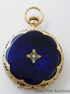 Ultra RARE Patek Philippe Blue Guilloche Enamel 18K Gold Hunter Pocket Watch | eBay