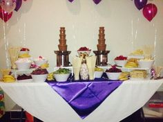 The ultimate chocolate candy sweet buffet