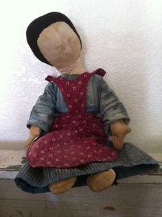 Oh sHe iS tHe BeSt !!!! FRom tHe deaLer Andrian Maryott of 19Th C Early Cloth Rag Doll -antiquepurist  oN  Ebay Look her up on www.1800primitives.com  ThaNk yOu for LisTiNg HeR. She iS aT tHe Home of Buttermilk & Cream Antiques in Rural Alpha IL of Susan Spence
