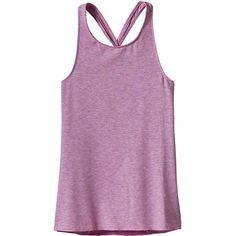 Patagonia Girls' Fleury Tank ($35) ❤ liked on Polyvore featuring mock purple and patagonia