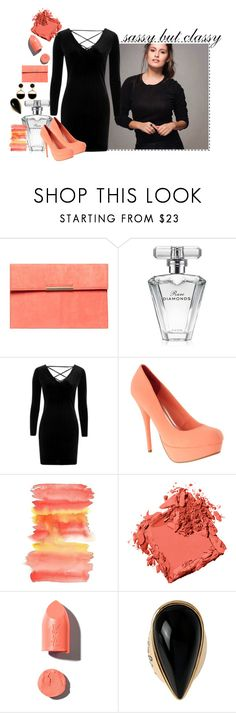 """jantar com o chefe"" by elisinhahalliwell on Polyvore featuring moda, Dorothy Perkins, Avon, Topshop, Bobbi Brown Cosmetics, PUR, Diane Von Furstenberg e Warehouse"