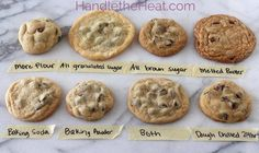 For perfect chocolate chip cookies. | Formas de hornear galletas