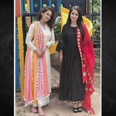 For details / order please dm or Whatsapp on . Pakistani Dresses, Indian Dresses, Indian Outfits, Indian Attire, Kurti Neck Designs, Blouse Designs, Mode Abaya, Indian Designer Suits, Churidar