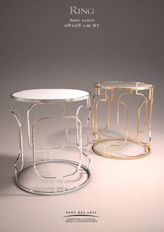 Ring Side table - Designer Monzer Hammoud - Pont des Arts Studio - Paris
