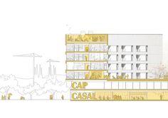 locuințe colective, centru civic și de sănătate - geriatrie Barcelona, Spania Mies Award