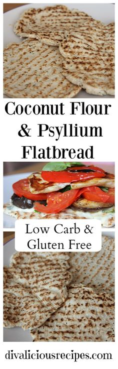 This post may contain affiliate links. Please read my disclosure policy for more info. This coconut flour flatbread is another great use of psyllium husk poweder in a grain free bread recipe and is very easy to make too.   Since psyllium and coconut flour are high in fibre this bread is very filling.  Make sure you drink a lot of water!  You can use this for dipping with sauces, spread with pate or load it up like a open sandwich.    Use it like a sandwich wrap, make a mini pizza…just have…