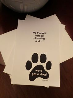 Funny New Pet Announcement Set of 12 We thought by glamourGreets, $17.50