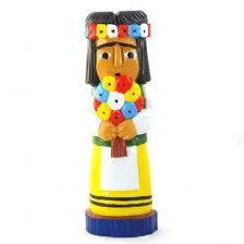 Woman from the village / folk art/ polish folk art / folk sculpture