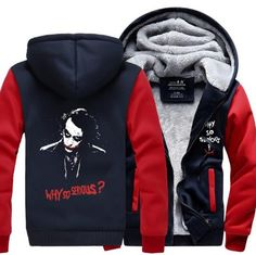 Click Here To View Size Chart! Product Name: Joke Why So Serious Man Zip Hoodie...