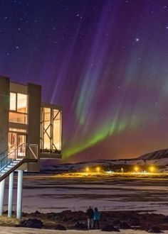About an hour from Reykjavik and right on the foot of a massive volcano in the middle of nowhere, the fairly new Ion hotel is all about nature and adventure (from horseback riding to rafting) though the biggest thrill is the hotel's Northern Lights Bar.