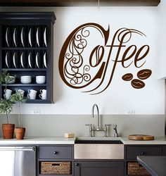 Vinyl Wall Decal Kitchen Coffee Shop House Cafe Decor Stickers Mural (ig3308)