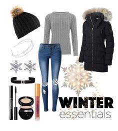 """""""Winter Essentials"""" by kitty-cat130 on Polyvore featuring GE, SOREL, WearAll, Linni Lavrova, WithChic, Allurez, Giorgio Armani, Lipstick Queen and Kenneth Jay Lane"""