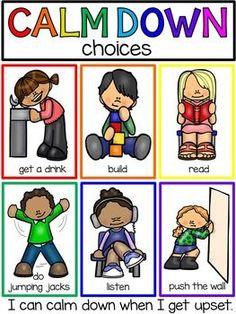 Calm Down Techniques - Books, Posters, and Supports by Pocket of Preschool Classroom Behavior Management, Behaviour Management, Classroom Rules, Kids Behavior, Behavior Plans, Behavior Charts, Classroom Decor, Anger Management Activities For Kids, Preschool Learning