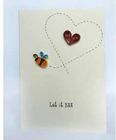 Let it Bee Quilled Card @ Rs. 199