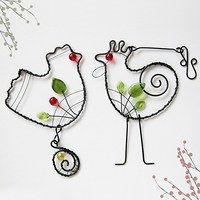 Wire Art, Twine, Bookmarks, Washer Necklace, Birds, Sculpture, Drop Earrings, Metal, Diy