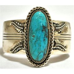 Navajo Turquoise Sterling Silver Cuff Bracelet Shades Of Turquoise, Turquoise Cuff, Turquoise Bracelet, Aquamarine Jewelry, Turquoise Jewelry, Modern Jewelry, Vintage Jewelry, Sterling Silver Cuff Bracelet, Native American Jewelry