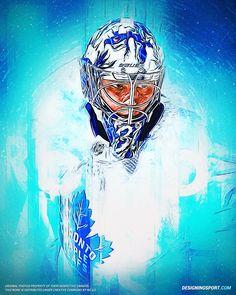 Frederik Andersen, Toronto Maple Leafs - Designing Sport Toronto Maple Leafs Wallpaper, Toronto Maple Leafs Logo, Hockey Logos, Hockey Goalie, Hockey Players, Hockey Live, Maple Leafs Hockey, Hockey Pictures, Goalie Mask
