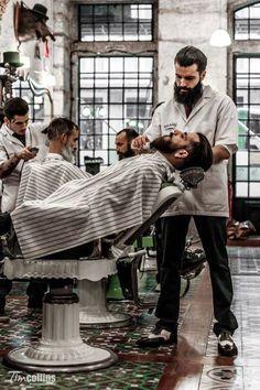 cuidado de la barba barberia