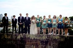 like the wedding dress and bridemaid's dresses