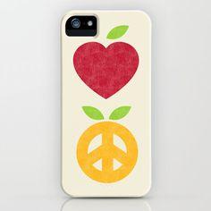 #Society6                 #love                     #Apple #Orange #Love #Peace #iPhone #Case #Budi #Satria #Kwan                 Apple and Orange - Love and Peace iPhone Case by Budi Satria Kwan                                       http://www.seapai.com/product.aspx?PID=1637968