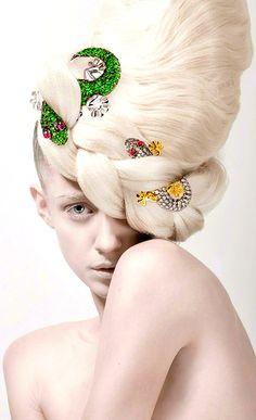 "Bejeweled Hair, Yes!!! ""Pure Season"" by Silvia Bratanova"
