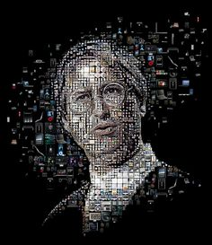Mosaic portrait for Steve Jobs for Discover magazine.