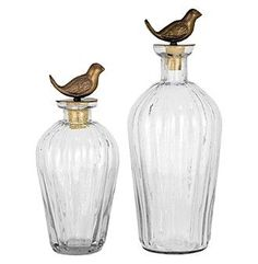 The Pomeroy Collection Set of 2 Shangri-La Decanters