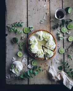 Lomelino's Pies Lime pie with coconut and white chocolate.