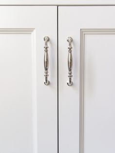 Choose Wisely! My Tips for Choosing Cabinetry Hardware | BlueGrayGal Kitchen Cabinets Light Wood, White Bathroom Cabinets, Kitchen Fixtures, E Design, Interior Design, Choose Wisely, Polished Nickel, Tips, Cabinet Hardware