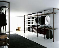 Image result for u shape walk in closet with steel frame