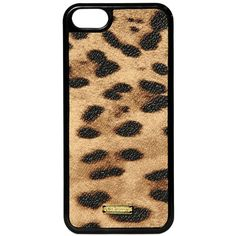 DOLCE & GABBANA Leopard Printed Iphone 5 Case ($69) ❤ liked on Polyvore featuring accessories, tech accessories, phone, phone case, brown and cell phone