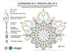Crochet Snowflake Pattern, Crochet Snowflakes, Crochet Stitches Patterns, Crochet Squares, Stitch Patterns, Crochet Diagram, Crochet Motif, Crochet Doilies, Crochet Lace