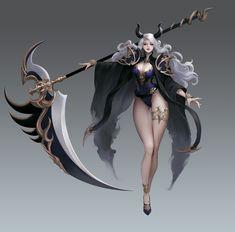 Fantasy Art Women, Beautiful Fantasy Art, Dark Fantasy Art, Fantasy Girl, Fantasy Artwork, Fantasy Female Warrior, Fantasy Weapons, Female Art, Anime Warrior